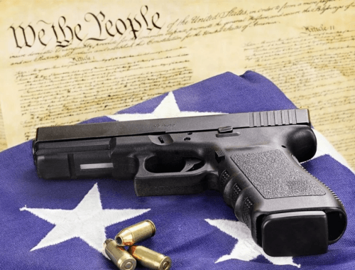 We The People Glock with Flag