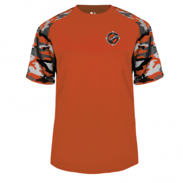 Orange-White Camo T-Shirt